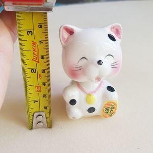 💮 Vintage Ceramic Japanese Lucky Cat Bobblehead